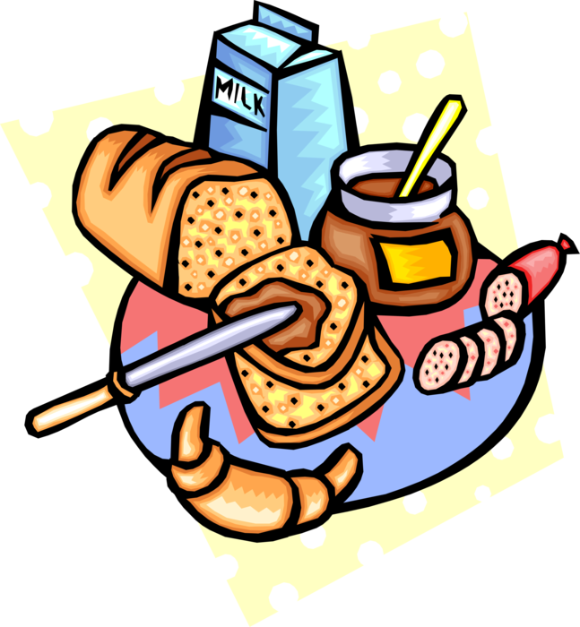 Loaf of bread with. Jelly clipart cold food