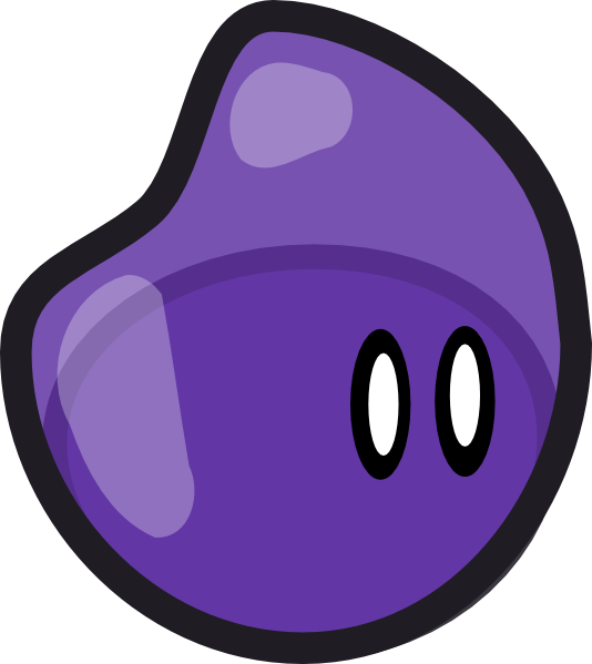 Crankeye clip art at. Purple clipart jelly bean