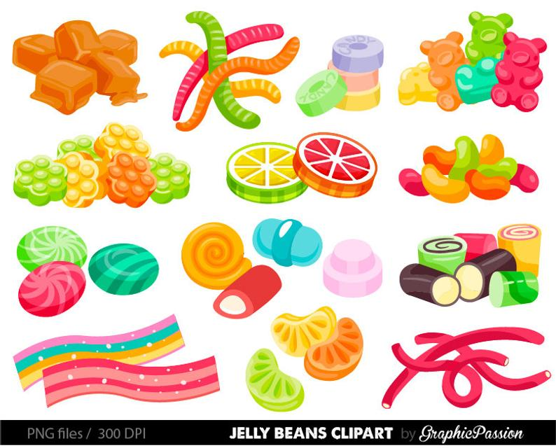 Beans graphics wonka party. Jelly clipart jelly candy