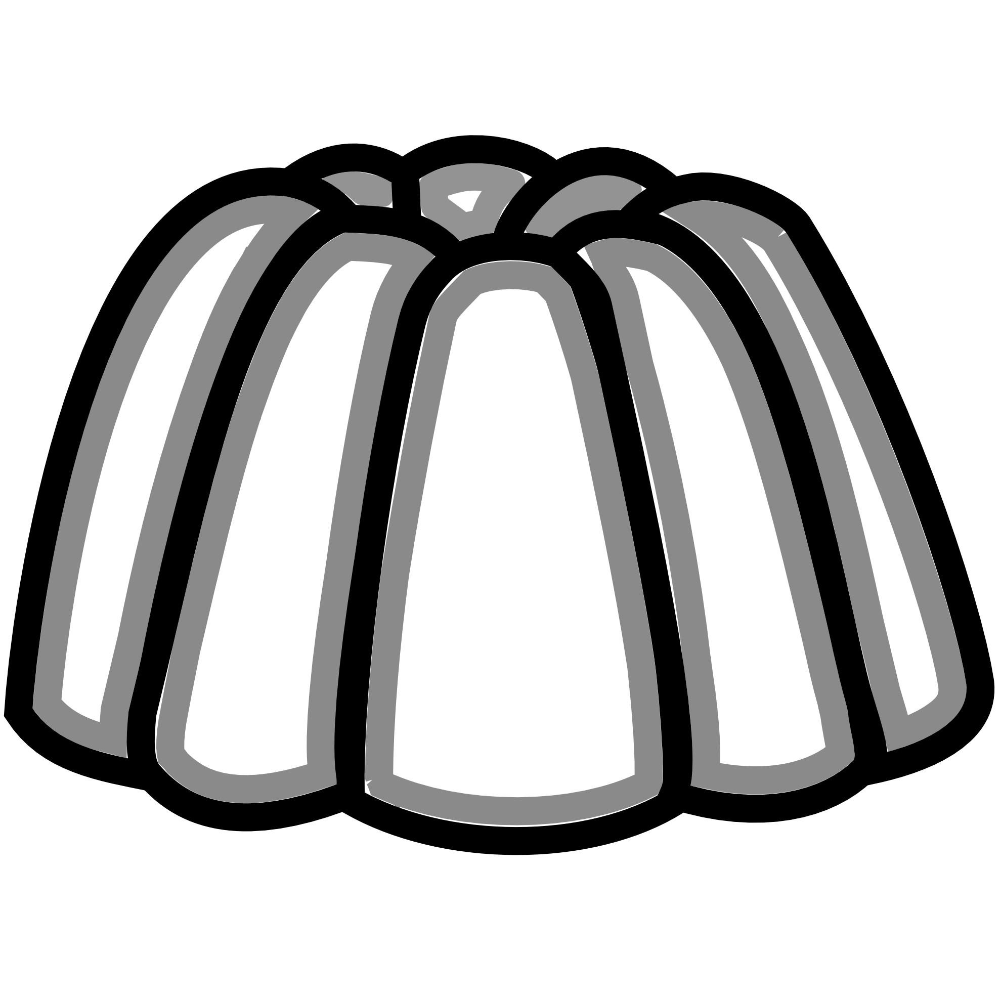 Jelly clipart outline.  collection of black