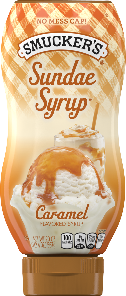 Jelly clipart strawberry syrup. Ice cream topping smucker