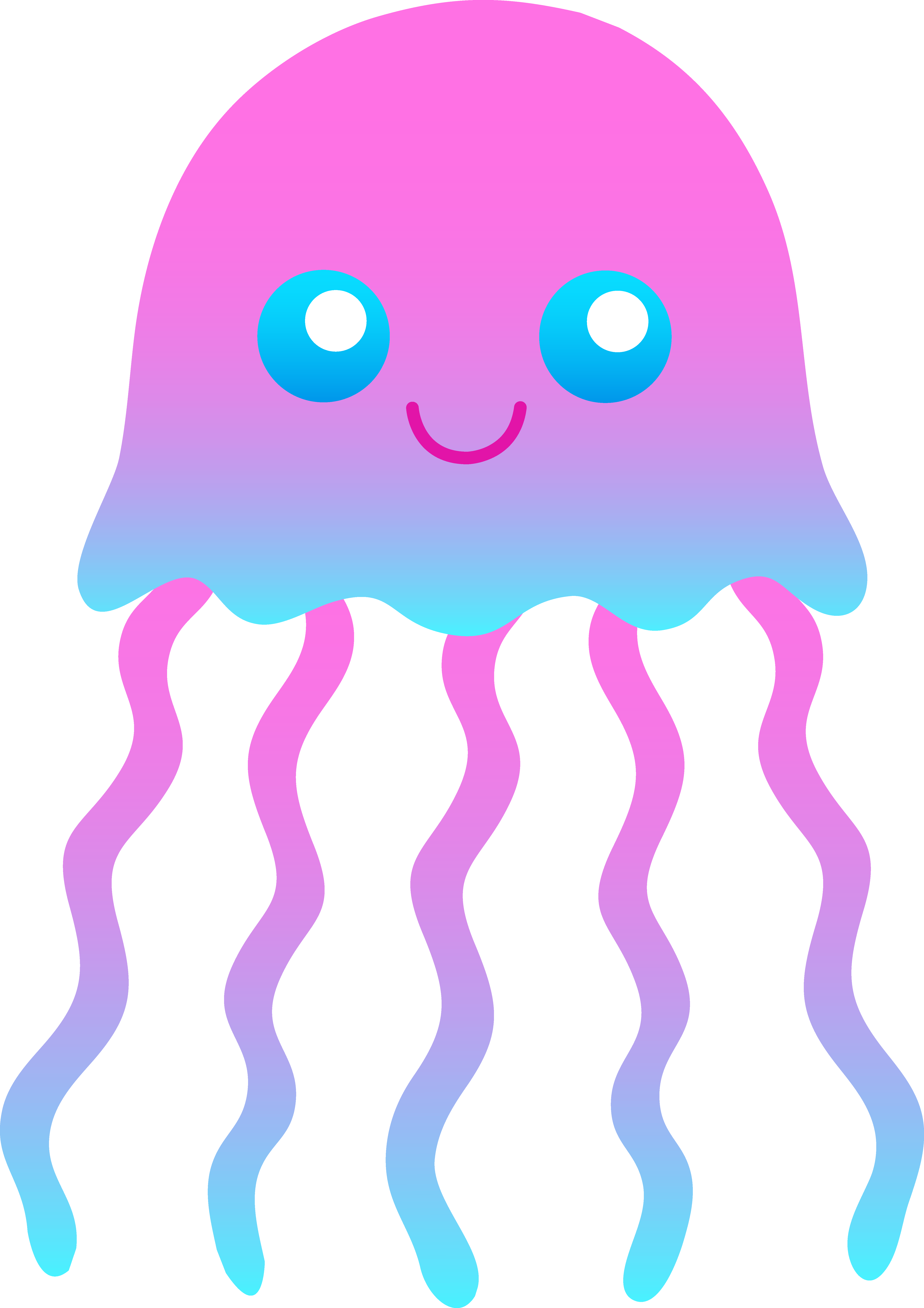 Cute Jellyfish Clipart