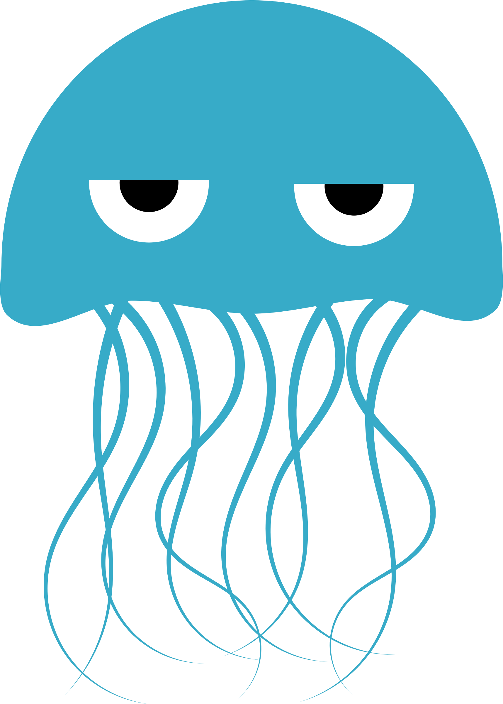 Clipart hippo mad. A jellyfish with attitude