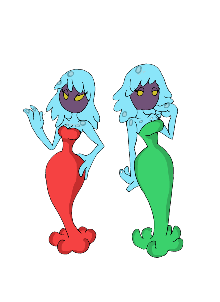 The sisters by reddumpster. Jellyfish clipart red jellyfish