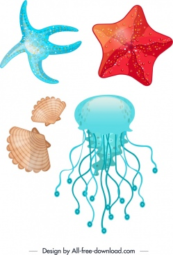 Jellyfish clipart vector. Free download for