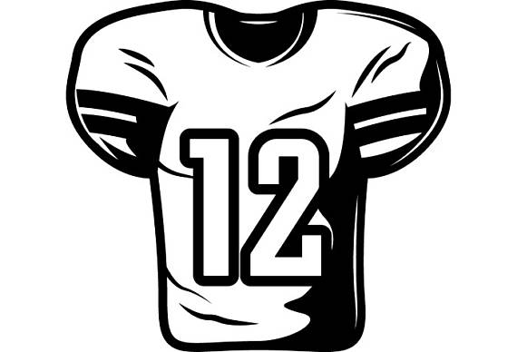 Football group equipment sports. Jersey clipart