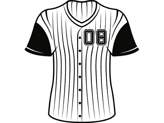 collection of baseball. Jersey clipart