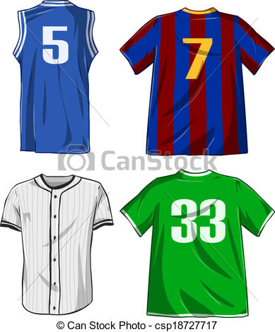 sports clipartlook. Jersey clipart athletic wear