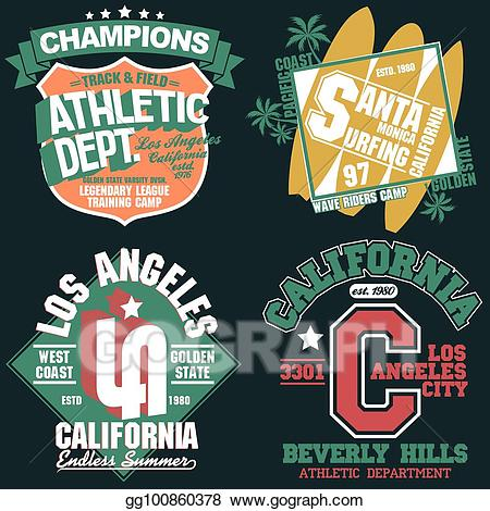 Eps vector california t. Jersey clipart athletic wear
