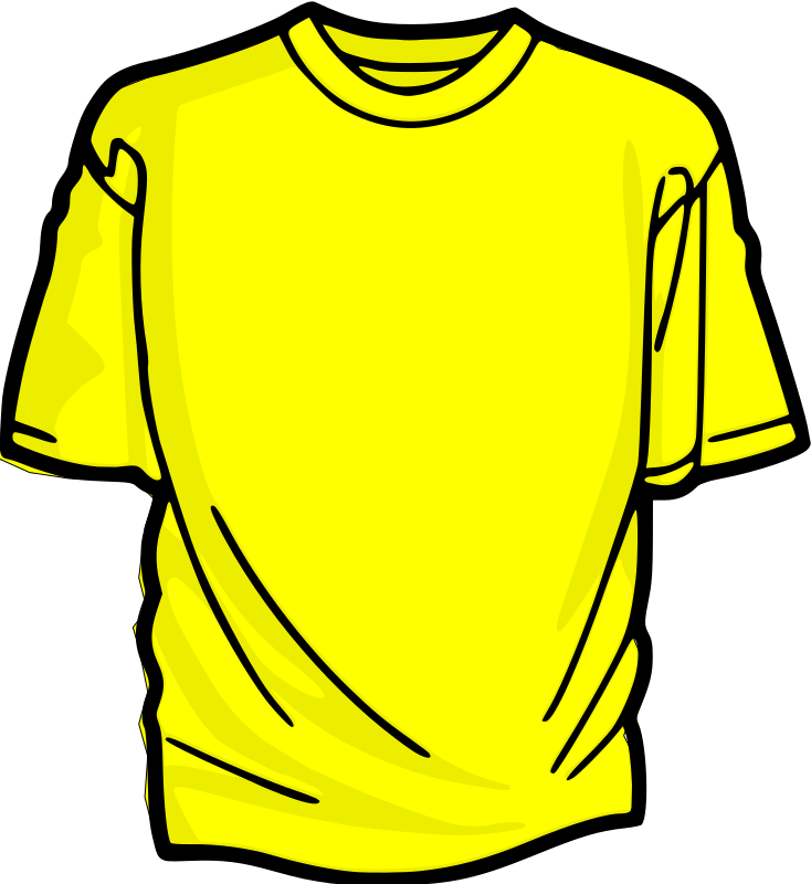 T yellow medium image. Clipart shirt animated