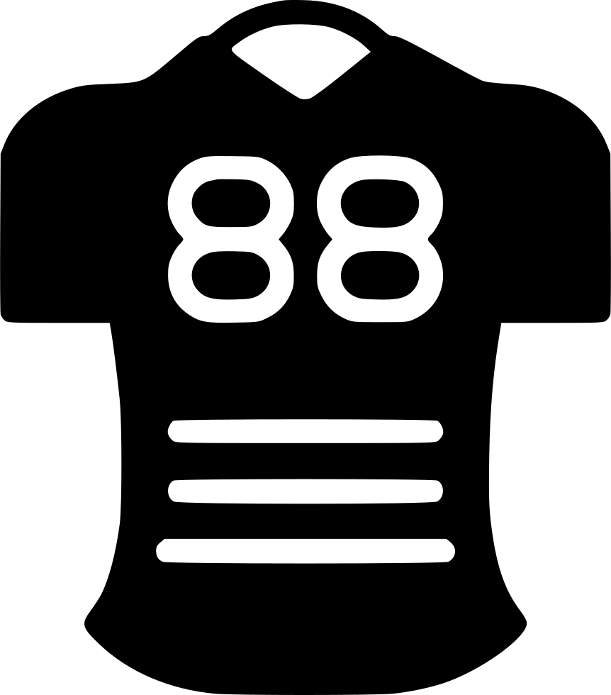 Jersey clipart football stands. Svg png icon free
