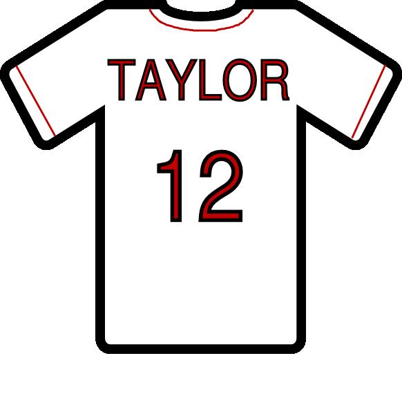 Jersey clipart jersey number. T shirt clip art