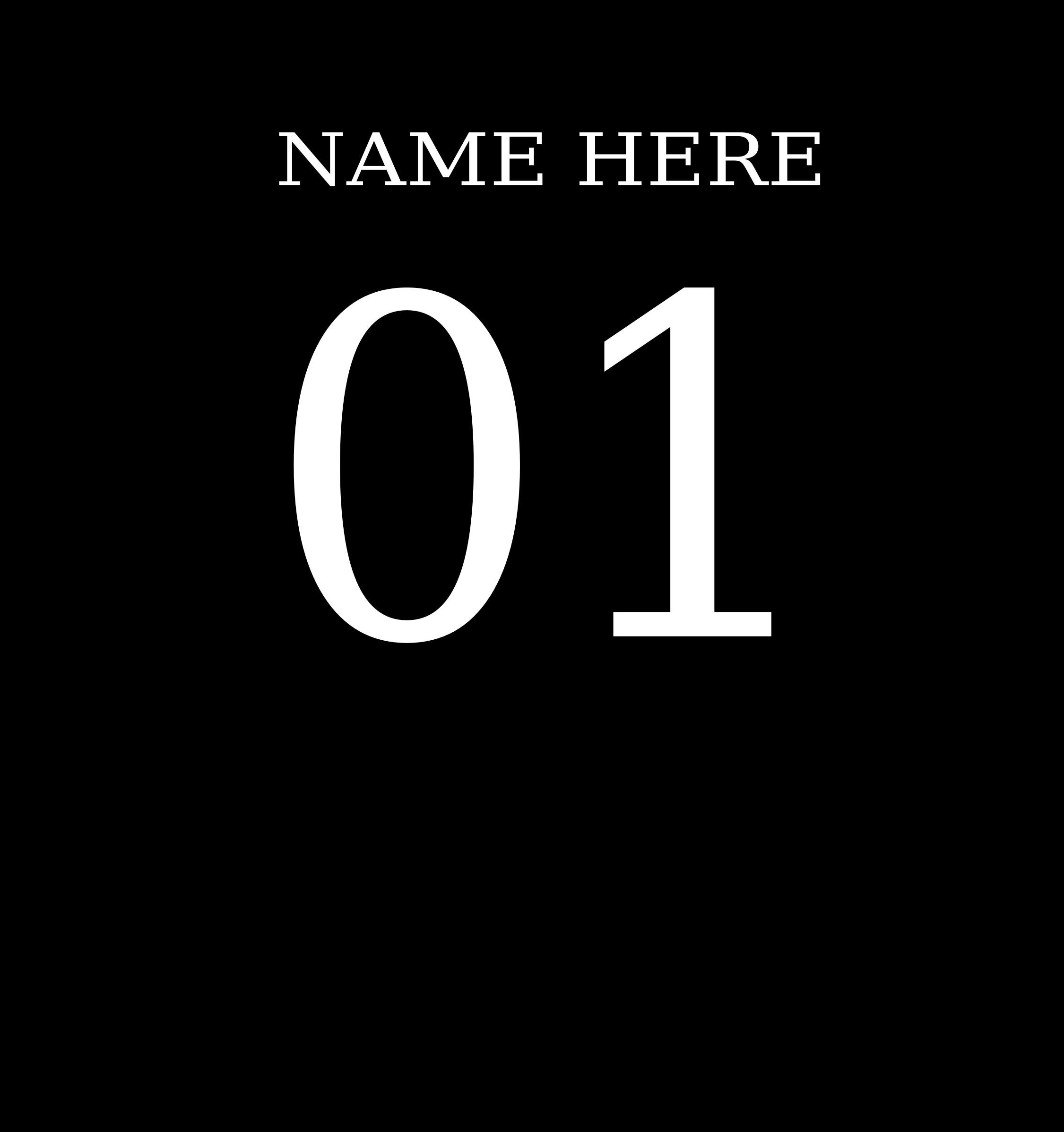 T shirt big image. Name clipart number