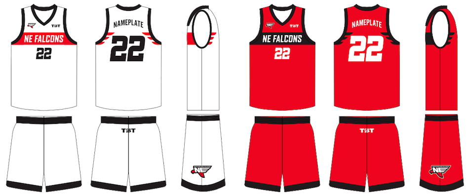 New england falcons uniforms. Jersey clipart red jersey