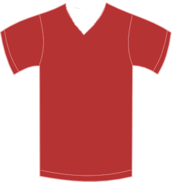 Vneck free images at. Jersey clipart red jersey