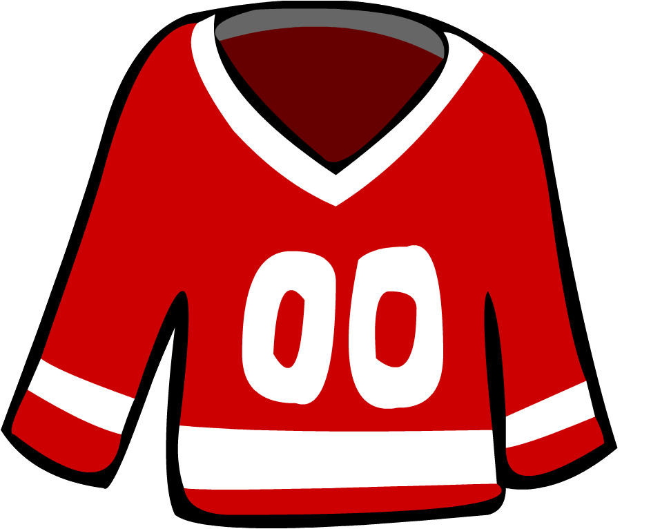 Jersey clipart red jersey. Image old hockey png