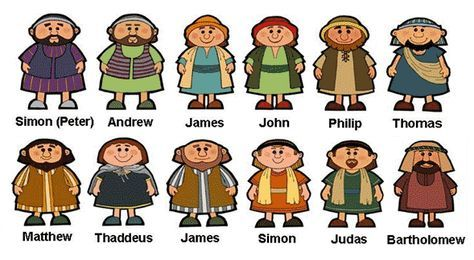 Moses clipart twelve disciple. Bible disciples set the