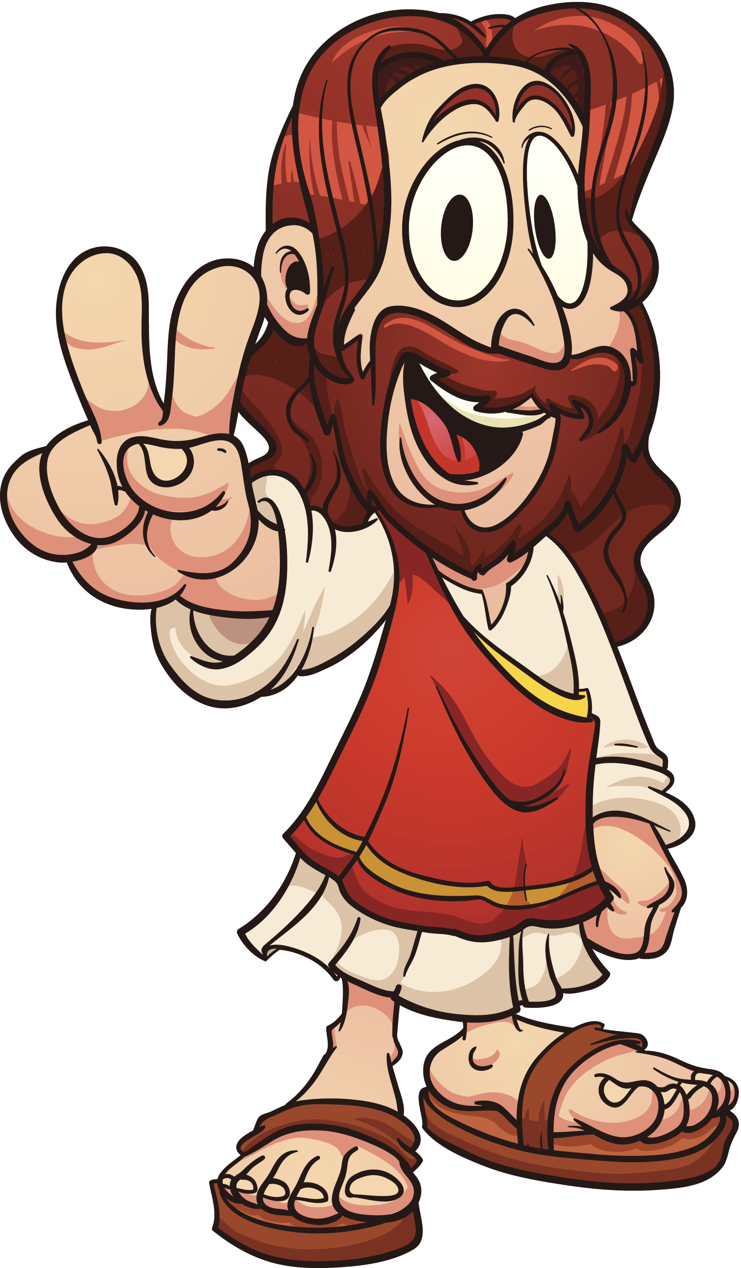 Jesus clipart cartoon. Free download clip art