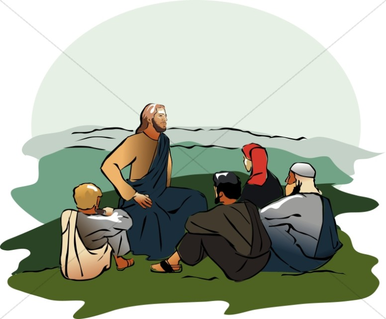 Sitting and teaching in. Jesus clipart comfort