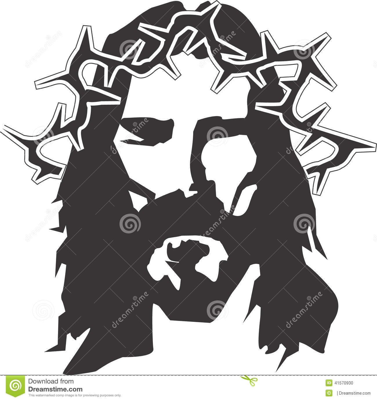 Jesus clipart face. Images for black and