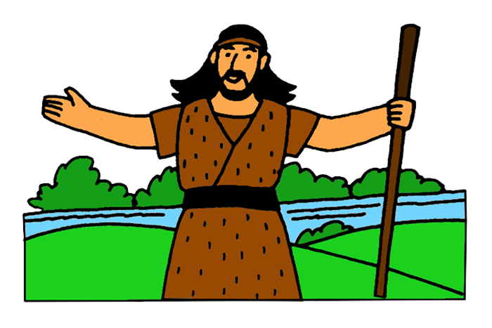 Jesus And John The Baptist Clipart