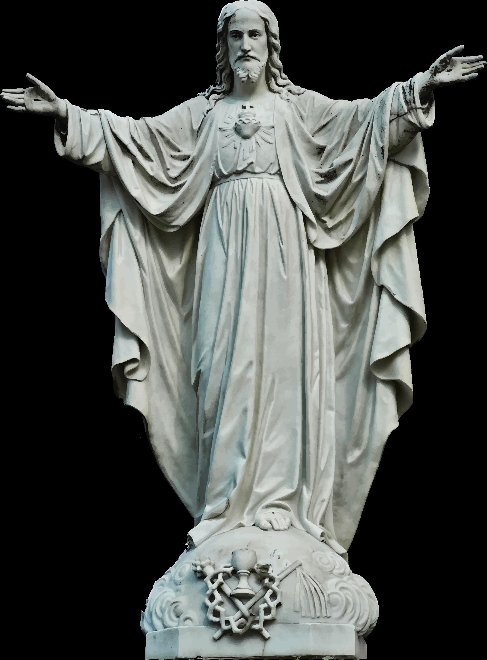 Jesus clipart stone. Statue of big image