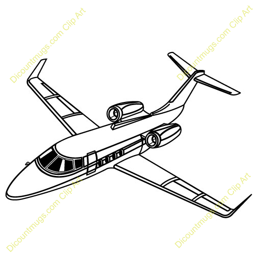 Private . Jet clipart