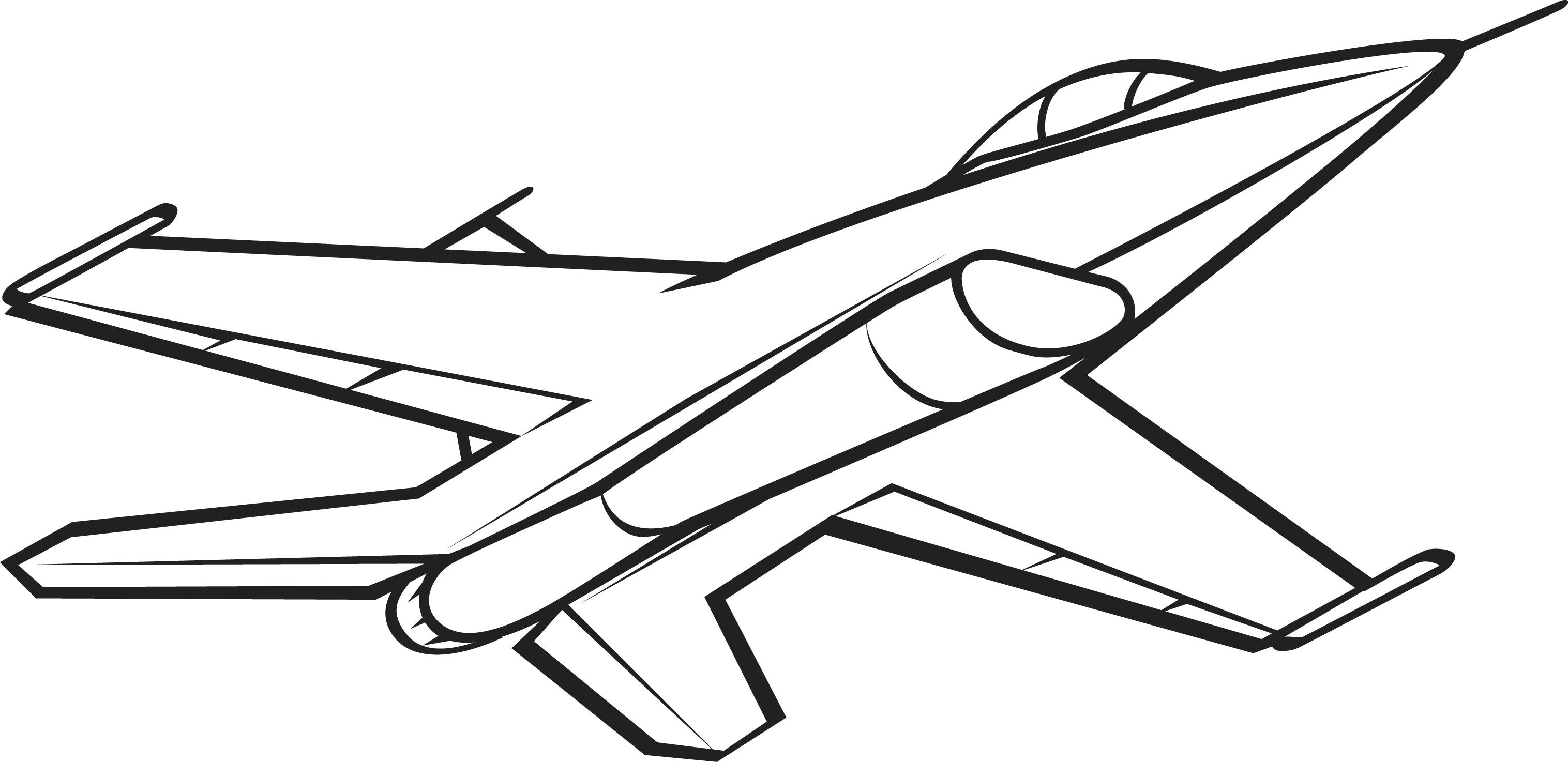 Black and white picture. Jet clipart