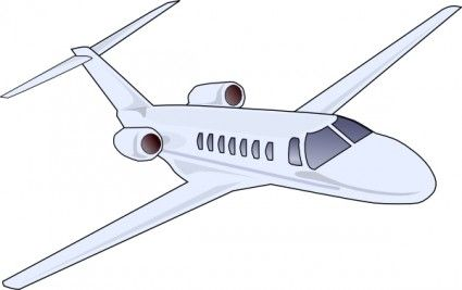 Jet clipart airliner. Aircraft clip art line