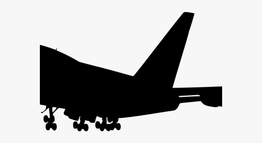 Jet clipart aviation. Jumbo airbus a silhouette