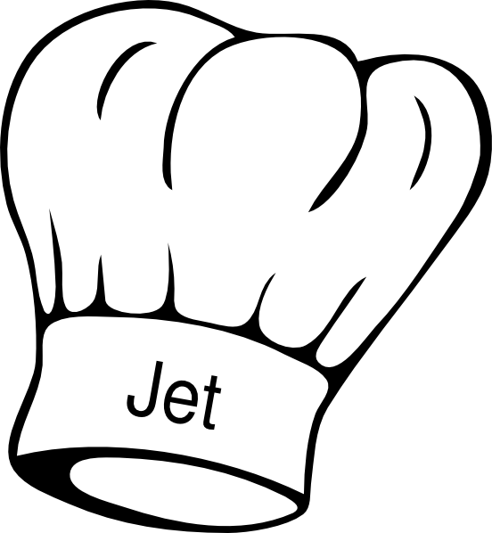 Chef clip art at. Jet clipart black and white