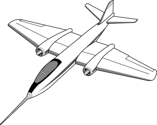 Jet clipart black and white. Free download clip art