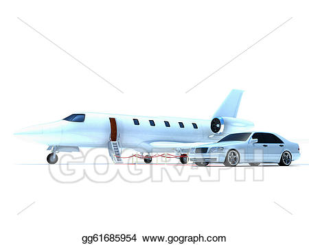 Stock illustration plane and. Jet clipart car