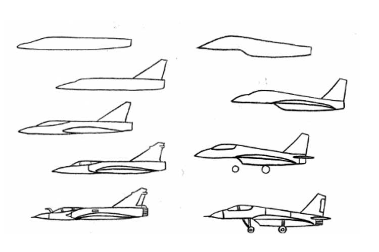 Jet clipart easy. Fighter sketch at paintingvalley