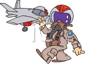 A jet in full. Pilot clipart fighter pilot