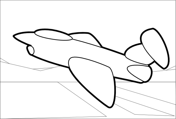 Jet clipart line art. Clip free vector in