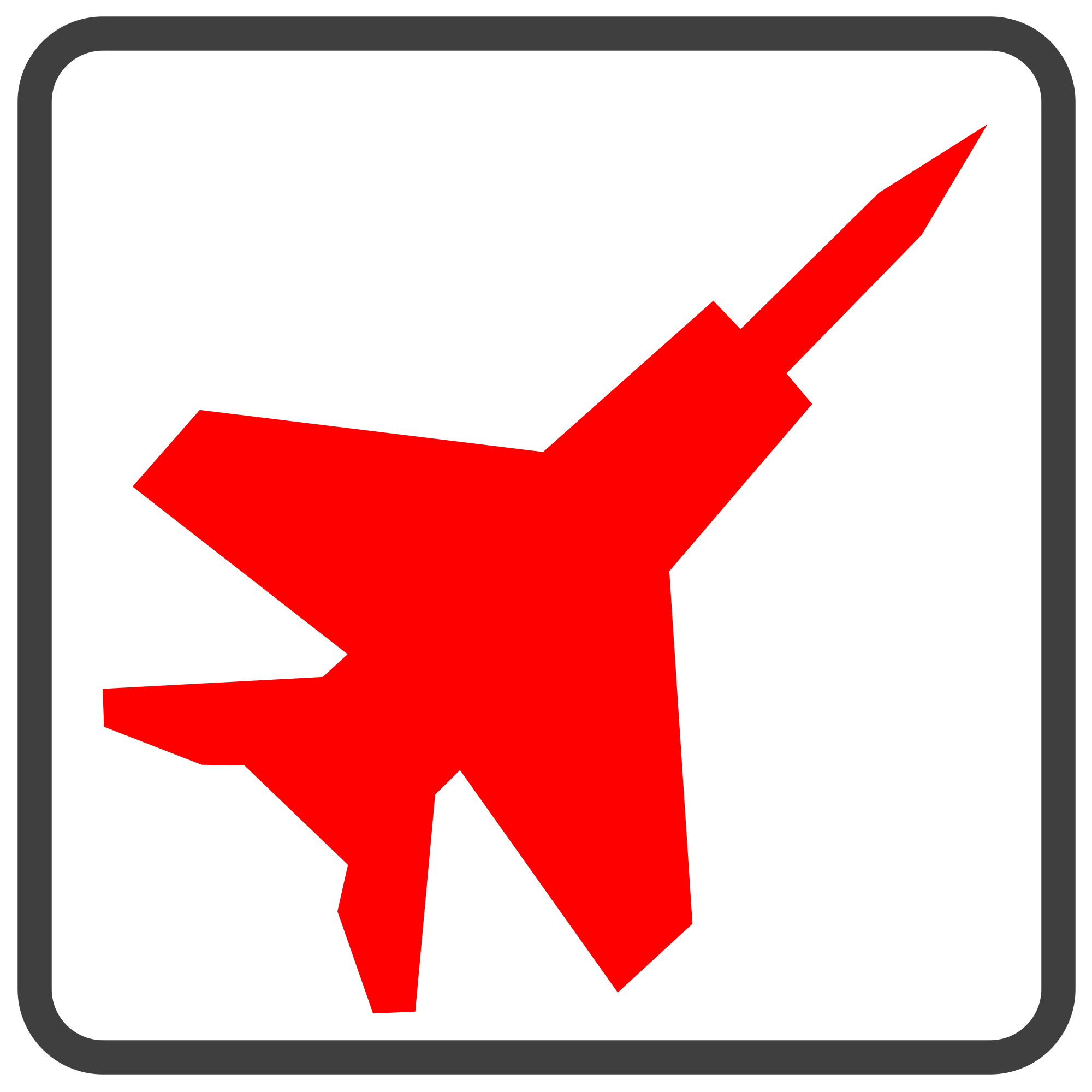 Jet clipart military jet. File fighter red icon