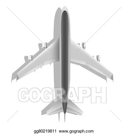 Jet clipart realistic. Stock illustration passenger airplane
