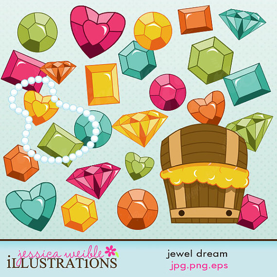 Jewel clipart. Dream cute digital for