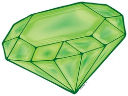 Green . Jewel clipart