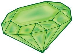 Jewel clipart. Green