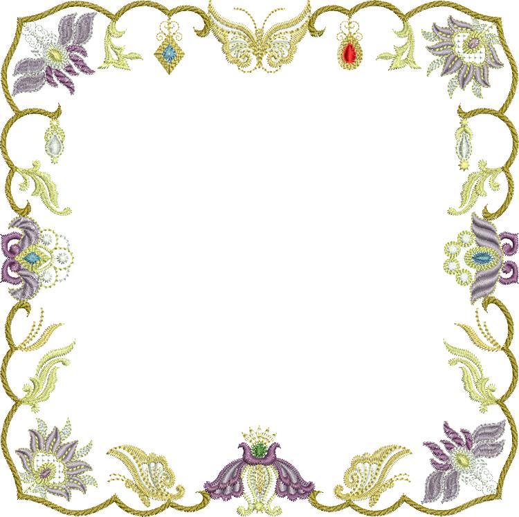 Sue box creations download. Jewel clipart border