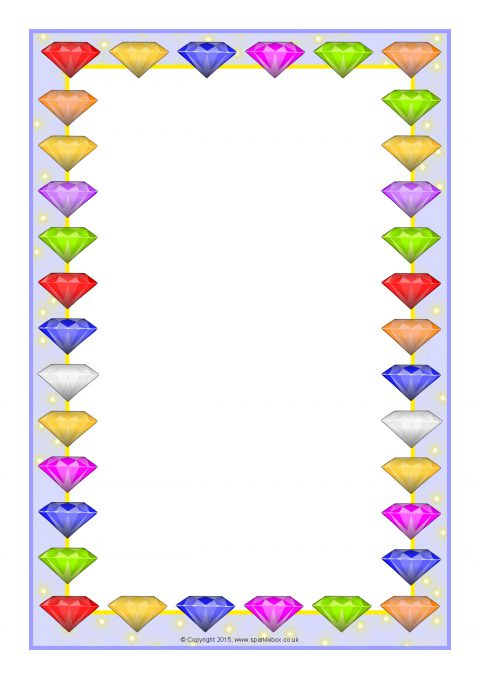 Jewel clipart border. Jewels themed a page