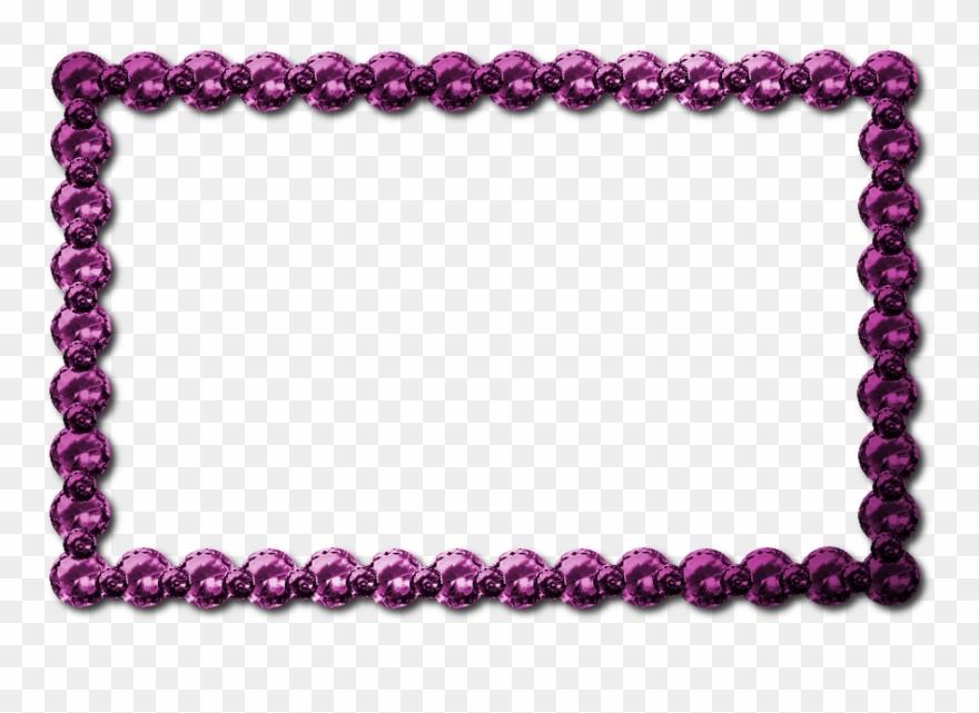 Download pink png clip. Jewel clipart border