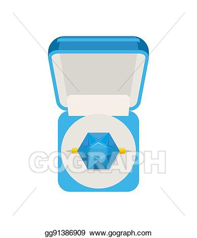Vector art with sapphire. Jewel clipart expensive ring
