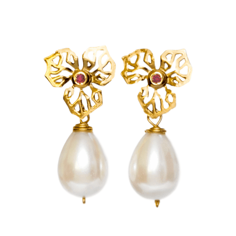 Jewel clipart pearl earring. Products caona handmade jewelry