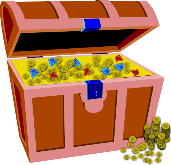 Treasure clipart vector. Chest clip art at