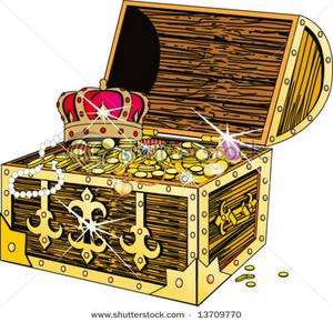 Jewel clipart treasure chest.  clipartlook