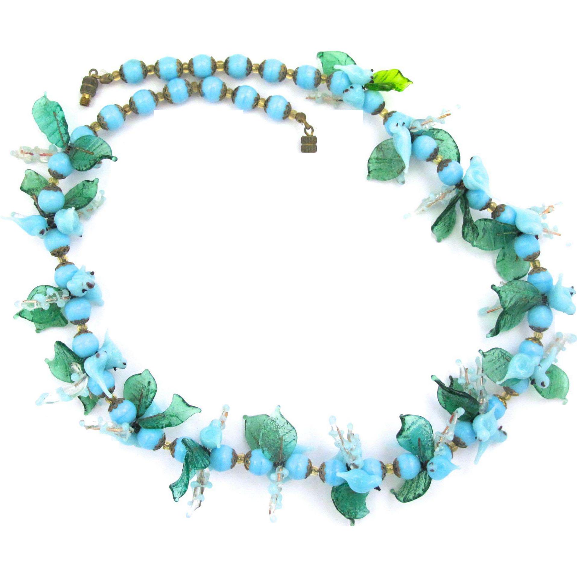 Venetian italy blue glass. Jewel clipart vintage jewelry