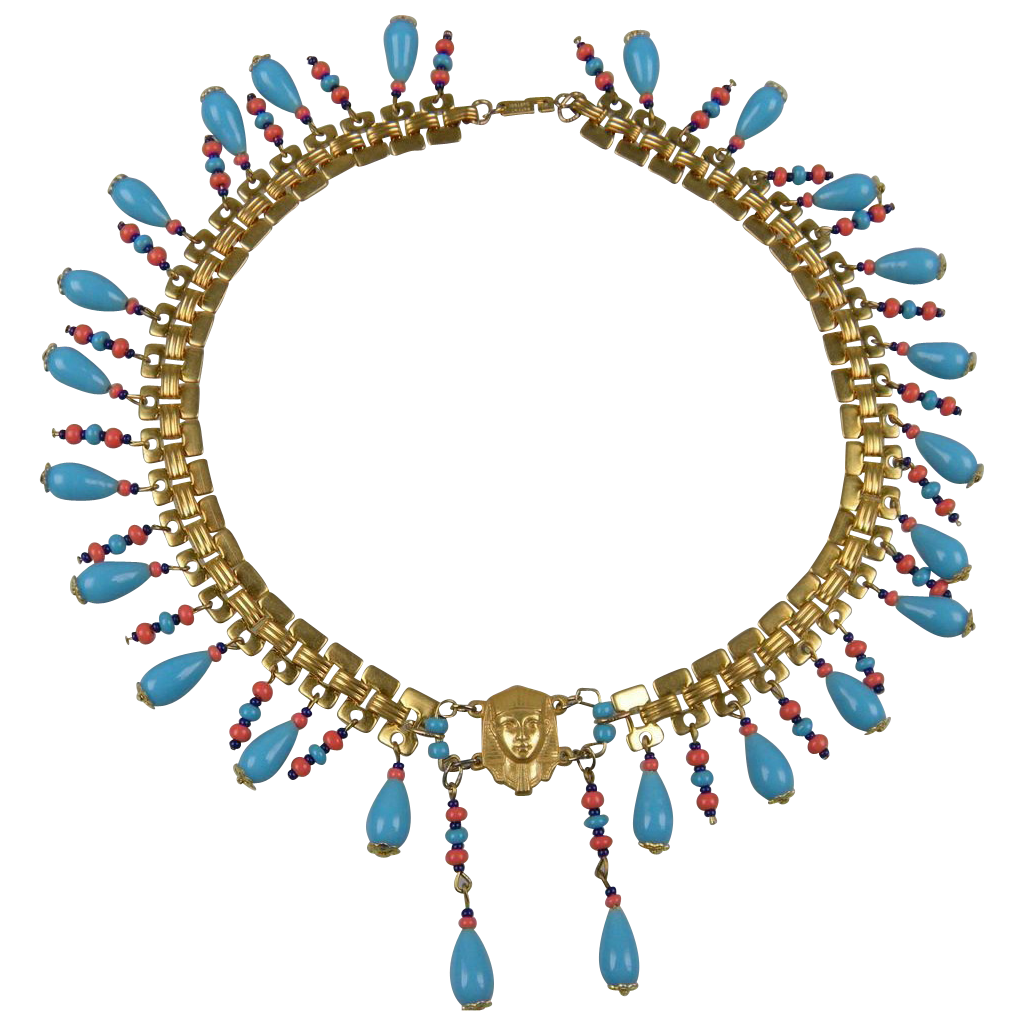 Jewel clipart vintage jewelry. Miriam haskell egyptian revival